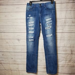 Guess distressed jeans sz 14